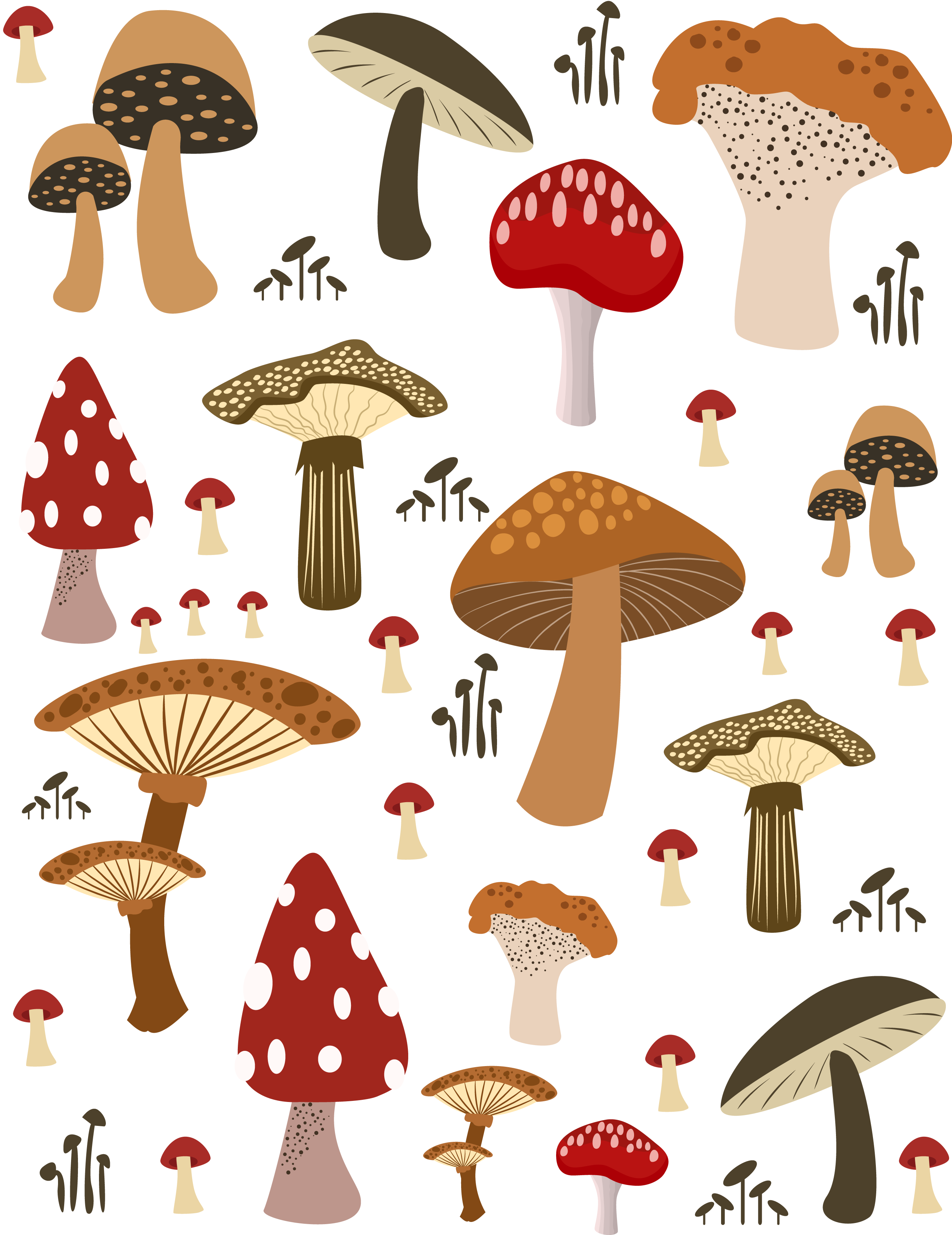 Vector mushroom character. Computer icons illustration featured