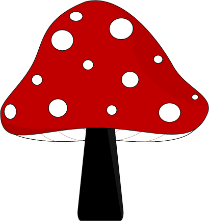 Mushrooms vector clip art. Cute mushroom free