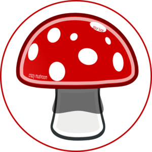 Mushrooms vector different. Crazy woman clip art
