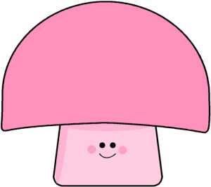 Pink mushroom clip art. Mushrooms vector cute little picture library download