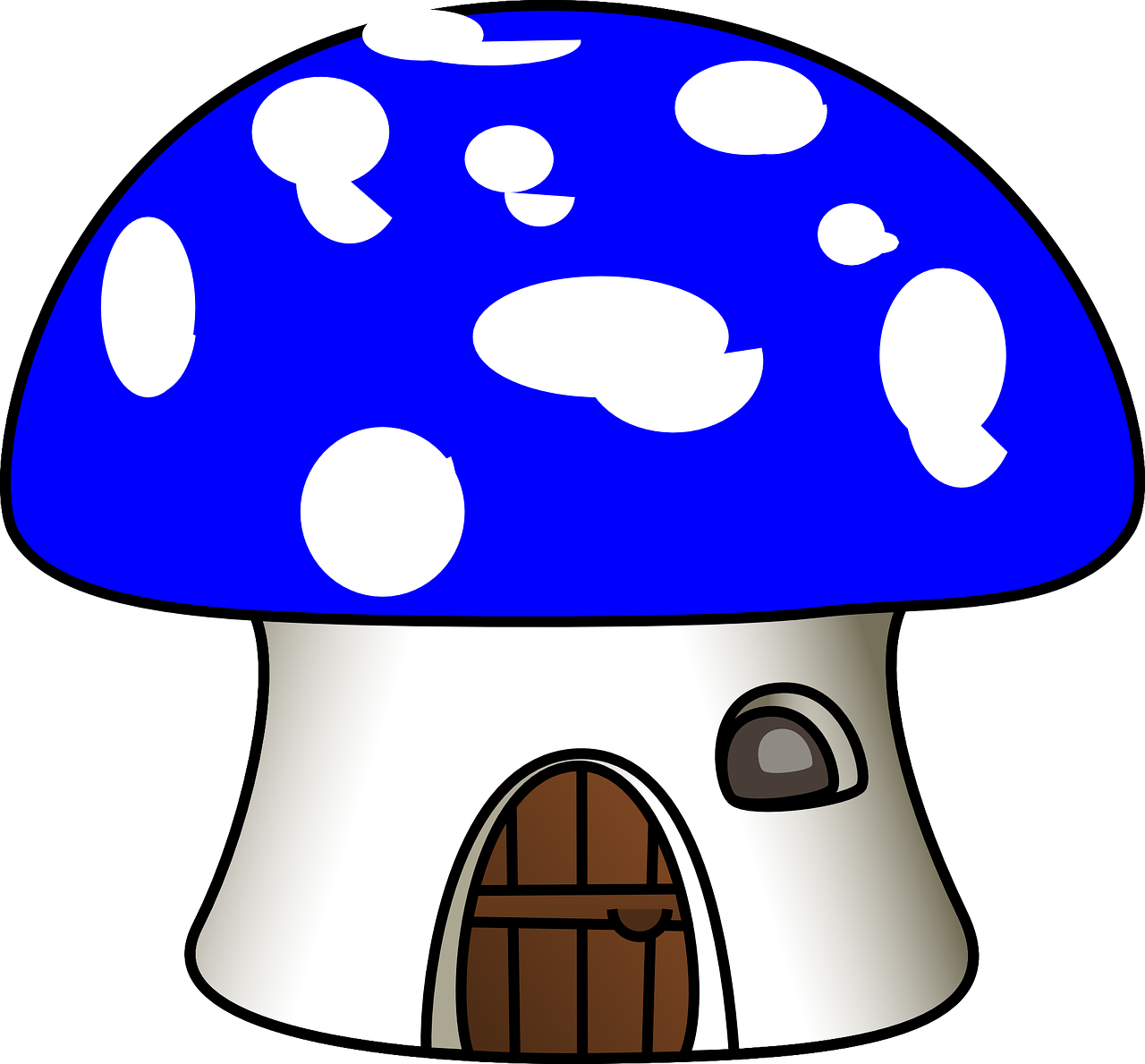 Mushroom house igloo door. Mushrooms vector art jpg download