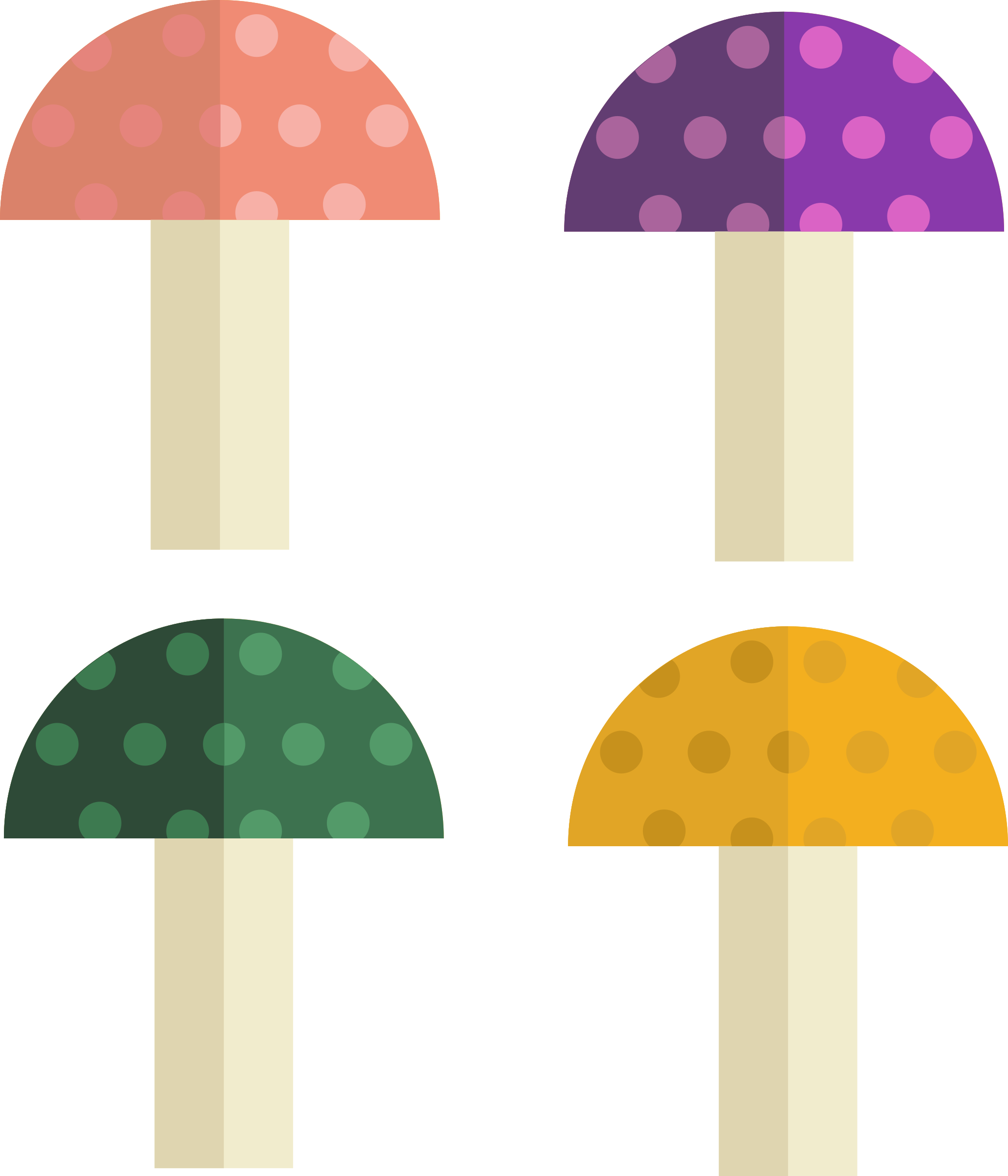 Vector mushroom flat. Icons png free and