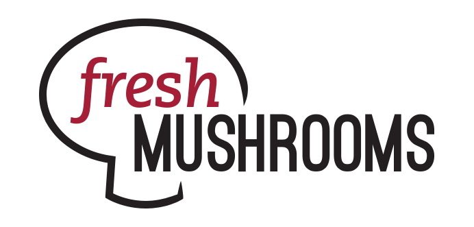 Mushrooms vector logo. Umami on the menu