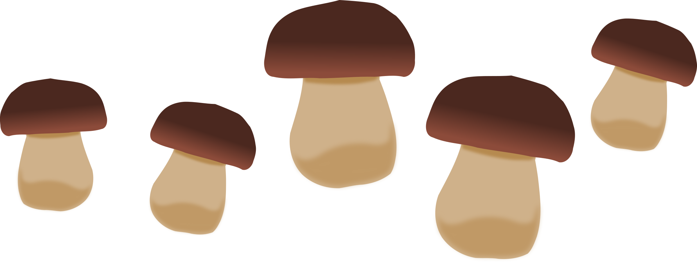 Mushrooms vector sliced mushroom. Graphic royalty free