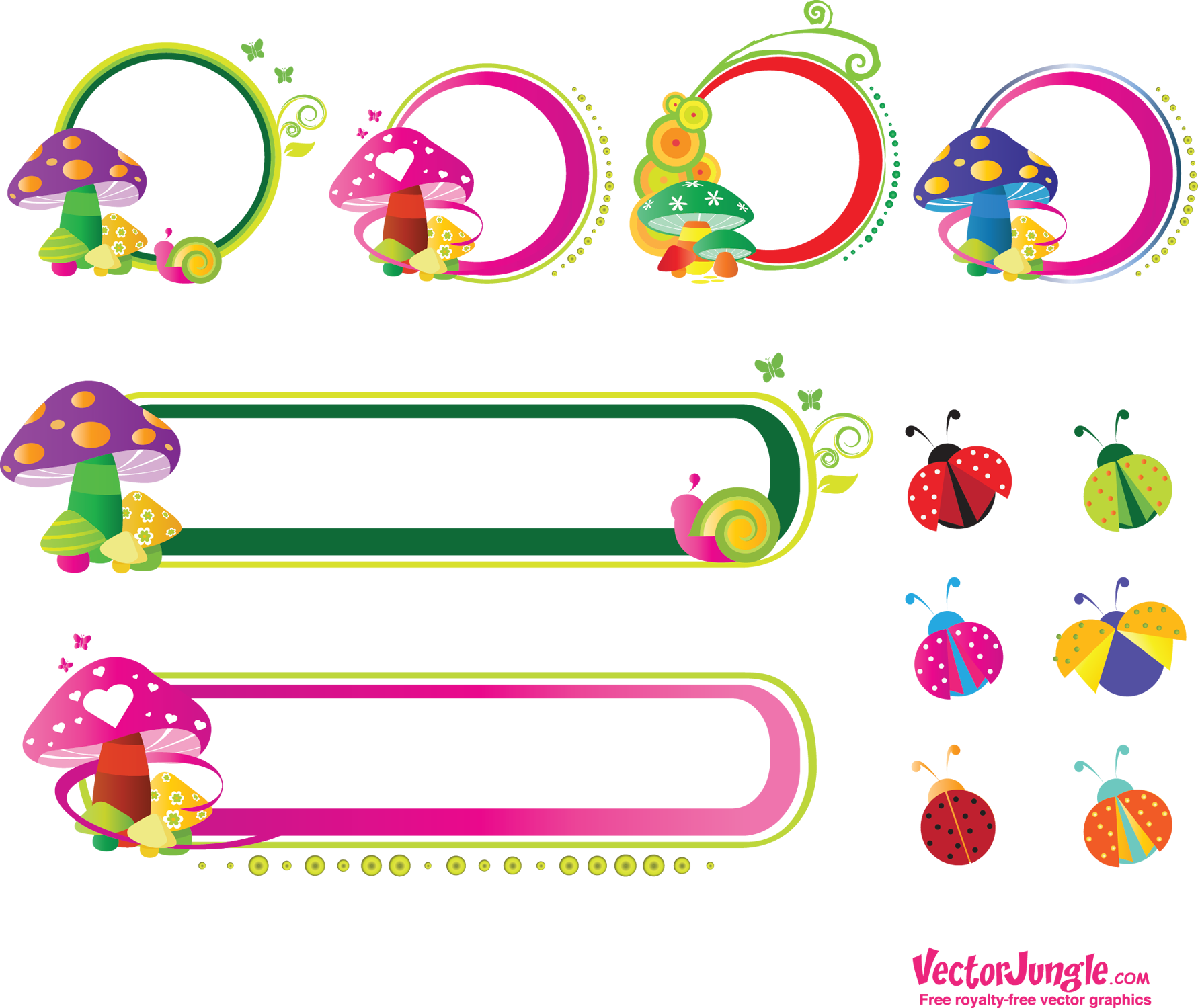 Mushrooms vector stylized. Rating votes cast groovy