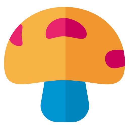 Vector mushroom flat. Search icon with png