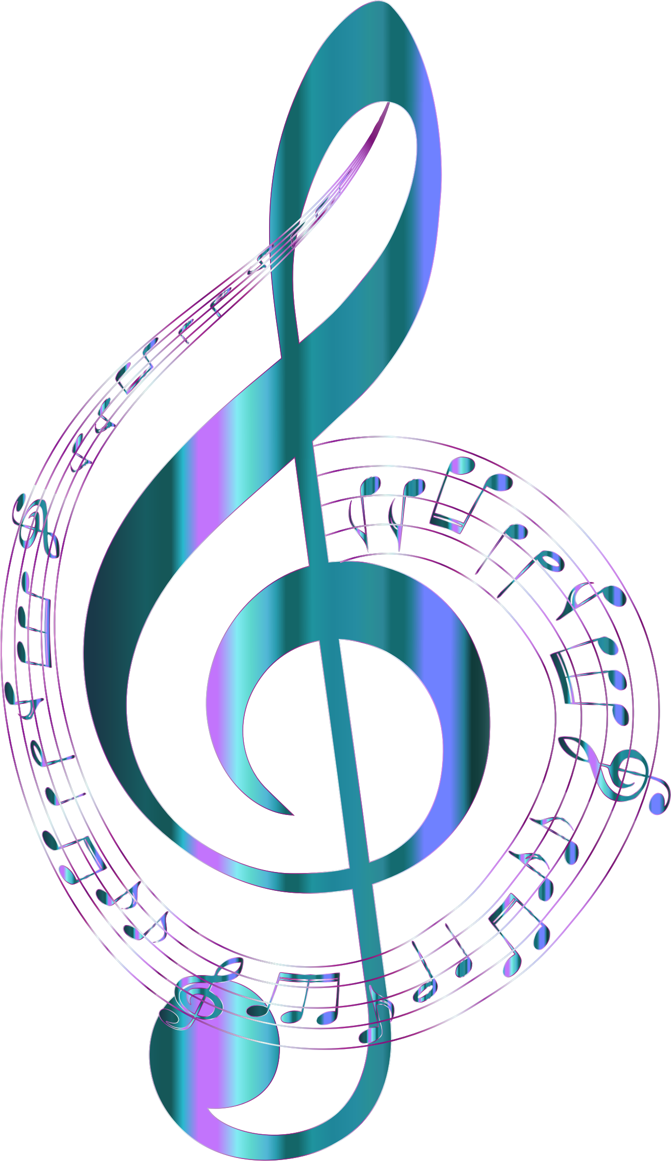 Music background png. Turquoise musical notes typography