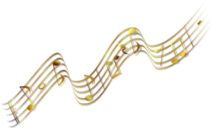 Music banner png. Gold clip art at