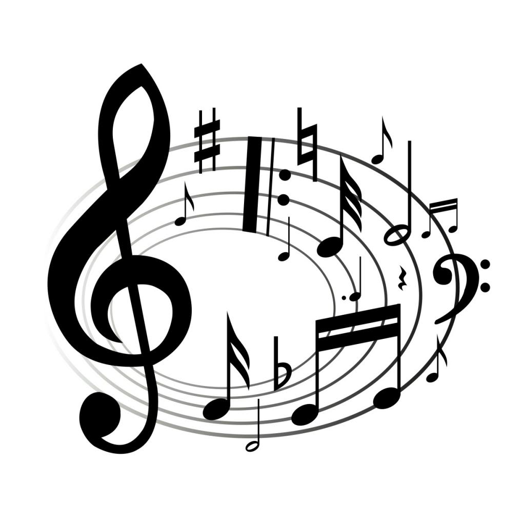 Music clipart. Notes panda free images