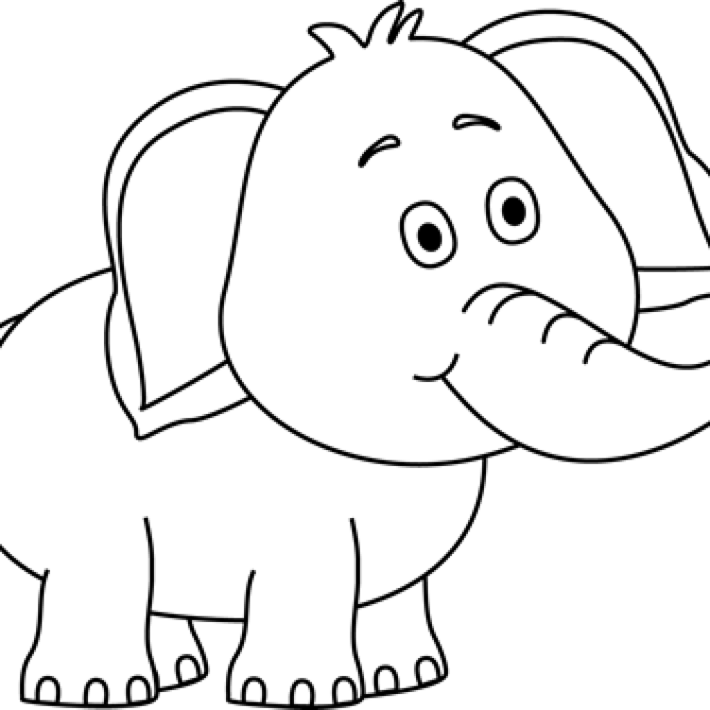 Music clipart elephant. Black and white free