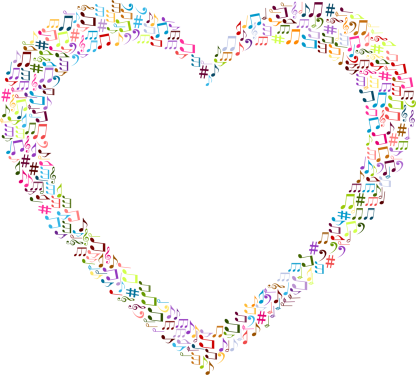 Music clipart heart. Download musical theatre free