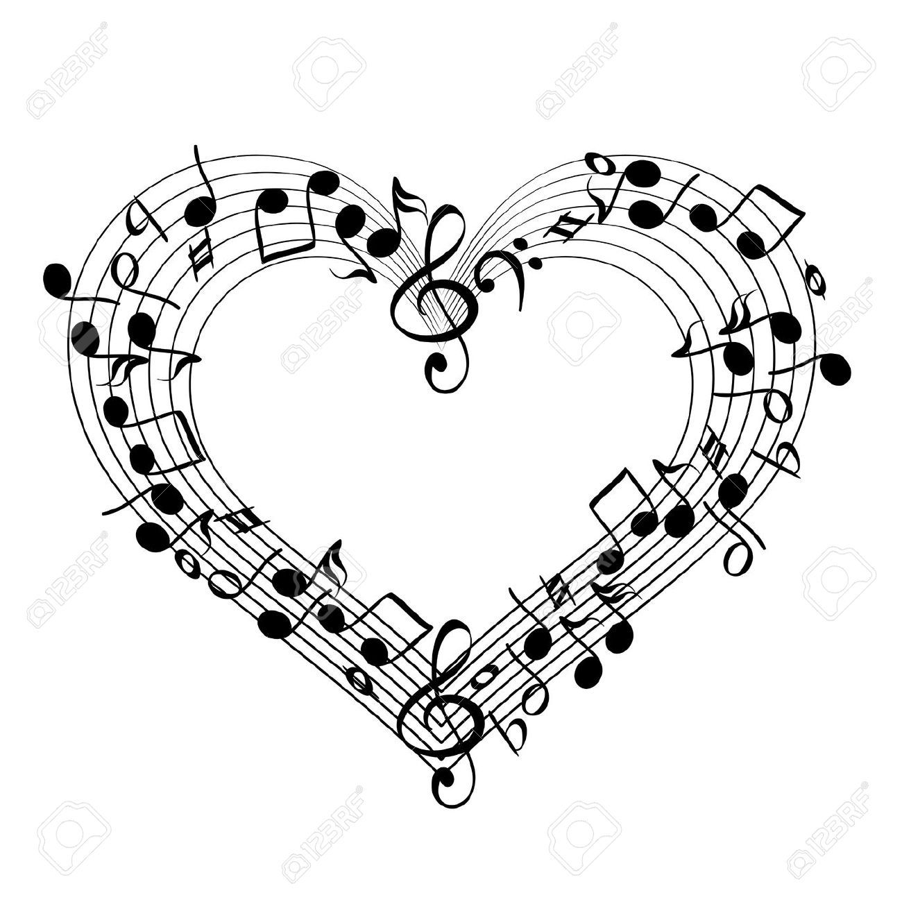 Music clipart heart. Image to download love