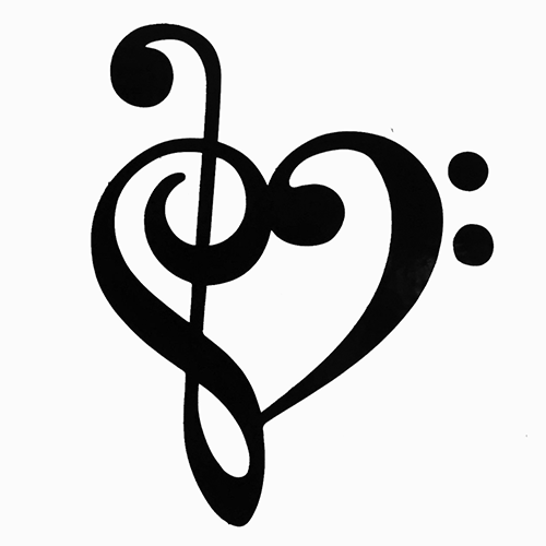 Music clipart heart. Notes