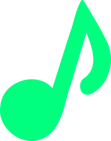 green music notes png