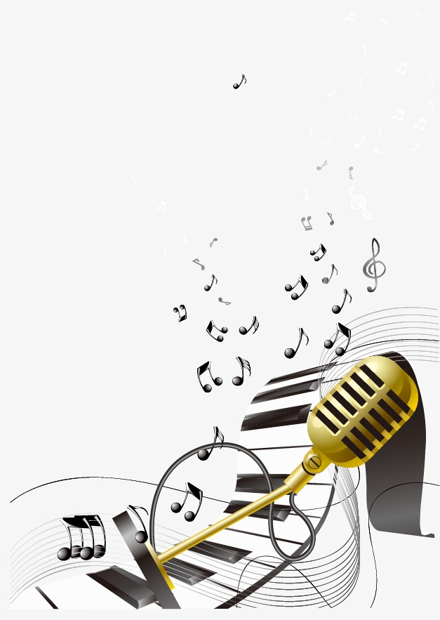 Music clipart microphone. Keyboard png image and