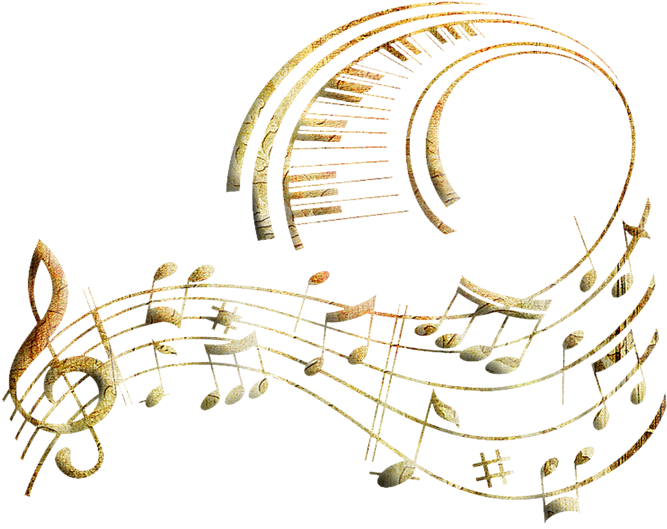 Music clipart soundtrack. Download hd notes gold