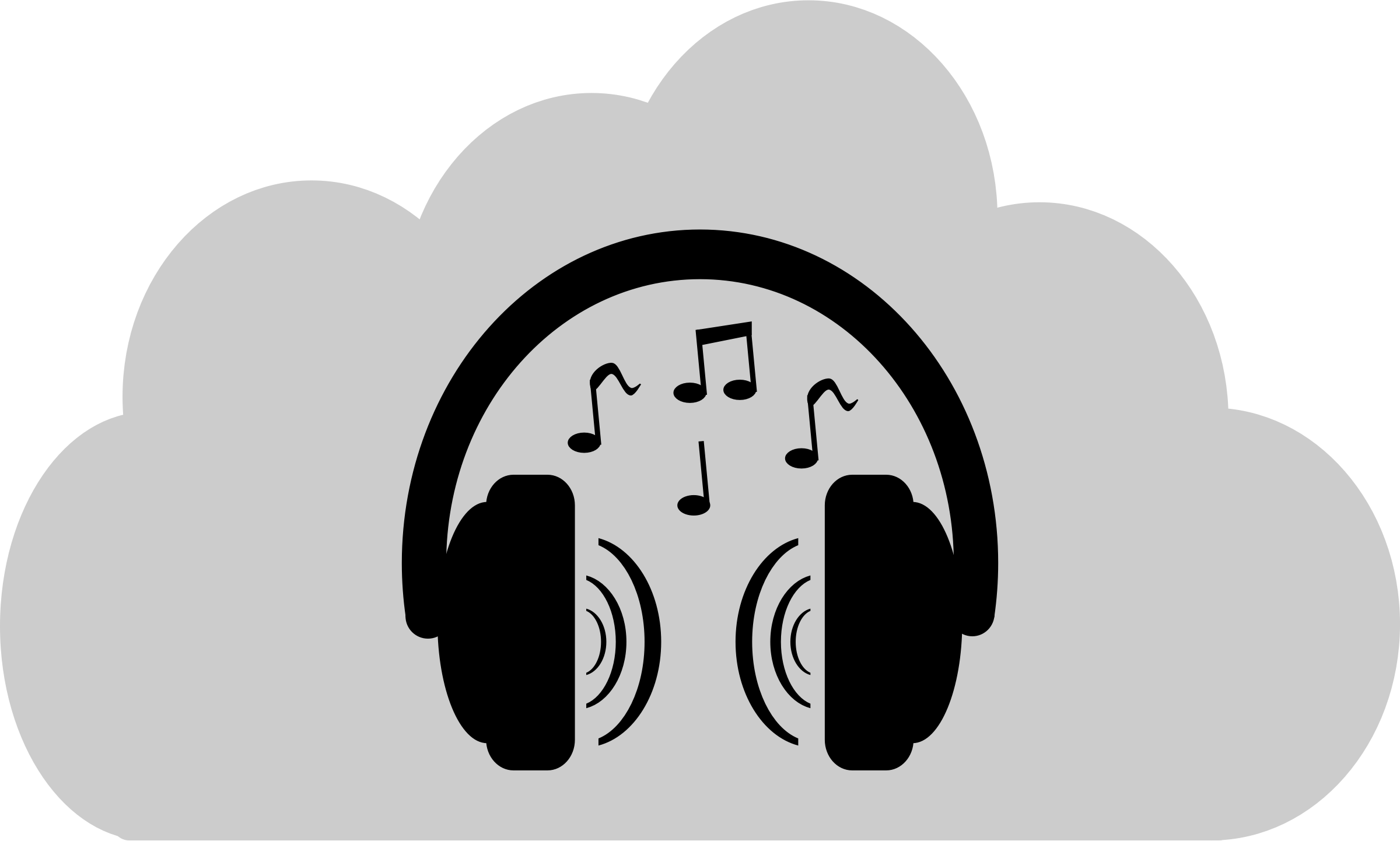 Music clouds png. Clipart cloud sound big