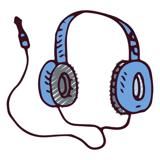 music notes and headphone side view png
