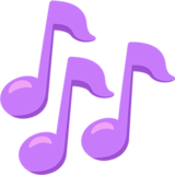 Emoticon musical notes png. On messenger