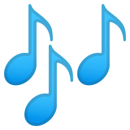 Emoticon musical notes png. Google android pie