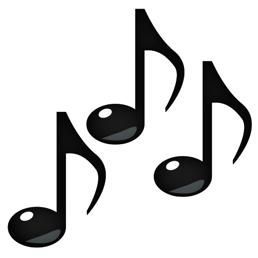 Music emoji png. Multiple musical notes for