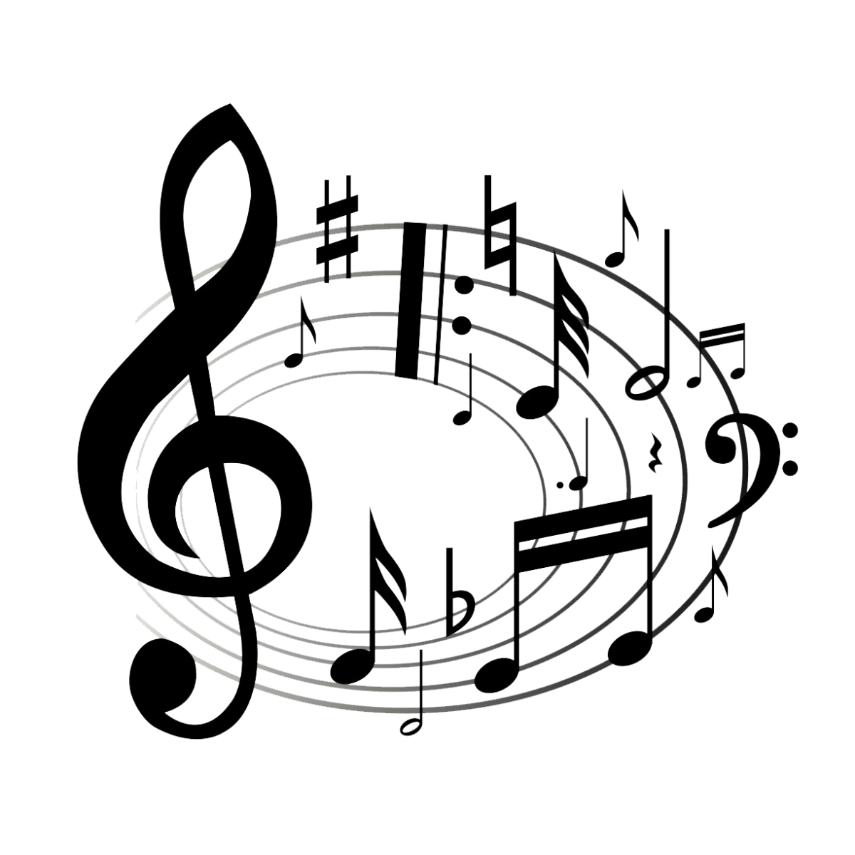 Music note art png. Musical clip notes transprent