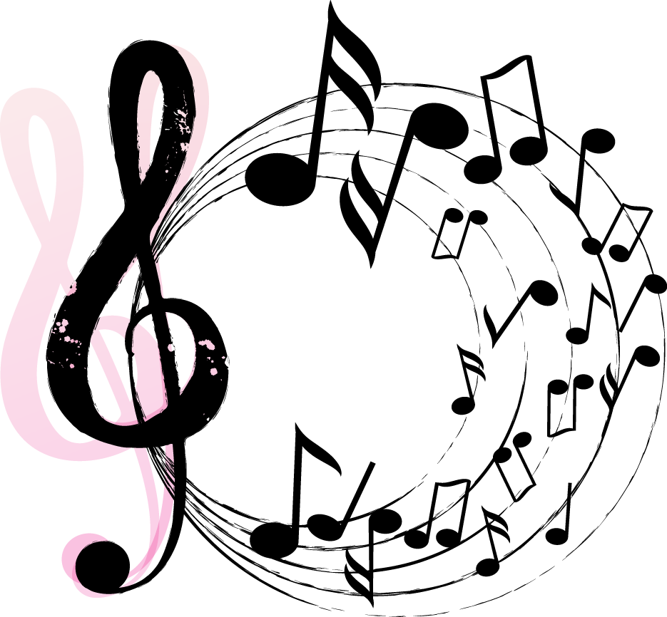 Music note design png. Musical instrument poster background