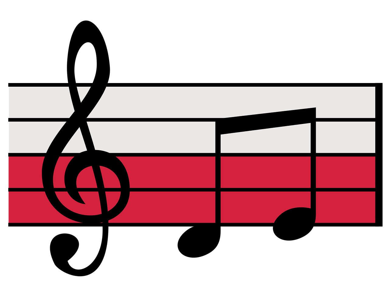 Musical notes red png. Background transparent stickpng