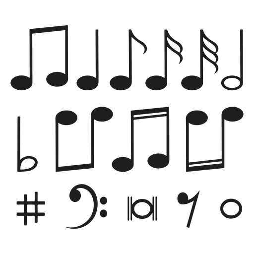 Musical notes vector png. Music transparent svg