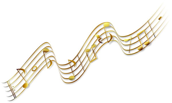 Music note border png. Flying notes clip art