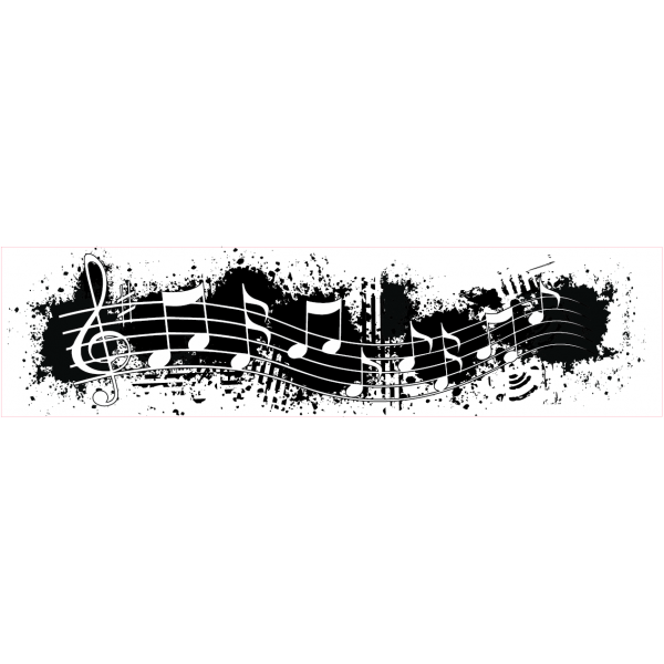 Music note border png. Borders grunge stamp
