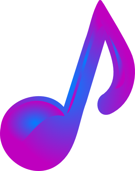 Purple music note png. And blue clip art