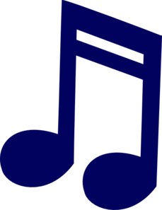 Music note clipart blue. Panda free images bluemusicnoteclipart