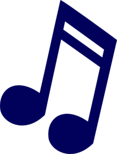 Music note clipart blue. Colorful musical notes clip