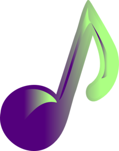 Music note clipart colorful. Clip art at clker
