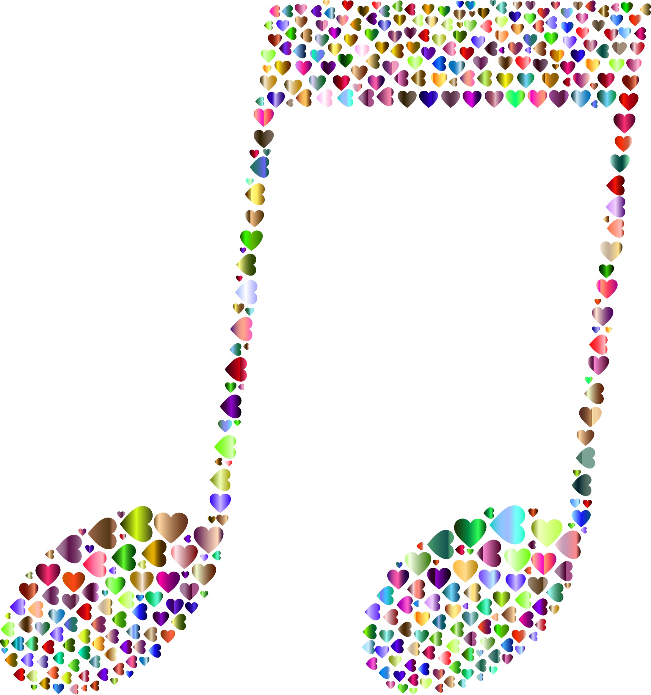 Music note clipart heart. Hearts chromatic big image