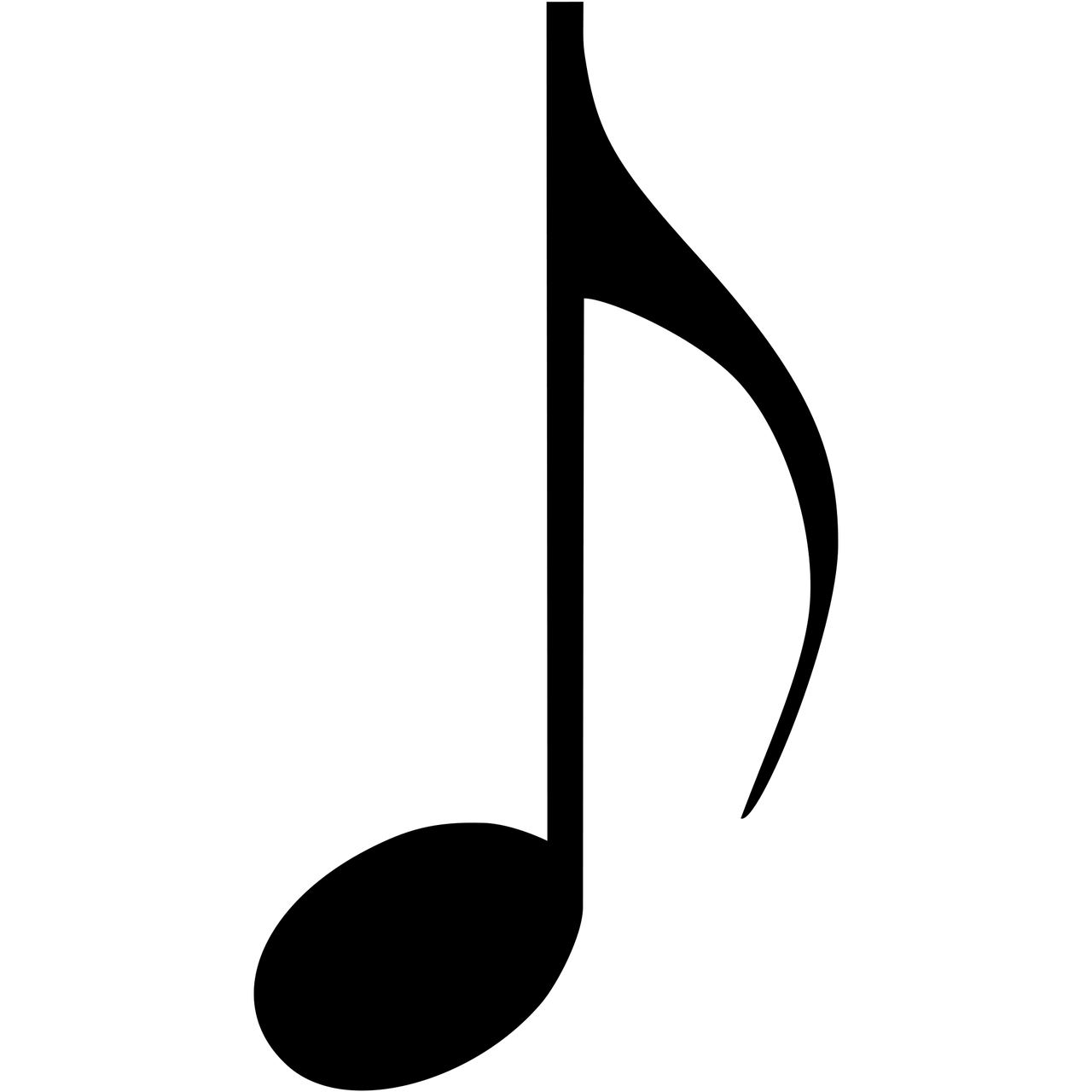 Music note clipart png. Musical eighth transparent stickpng