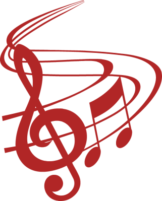 Music note clipart red. Musical notes with treble