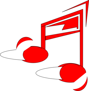 Music note clipart red. Clip art at clker