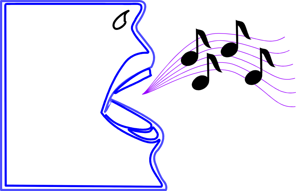 Music note clipart singing. Free stock photos illustration