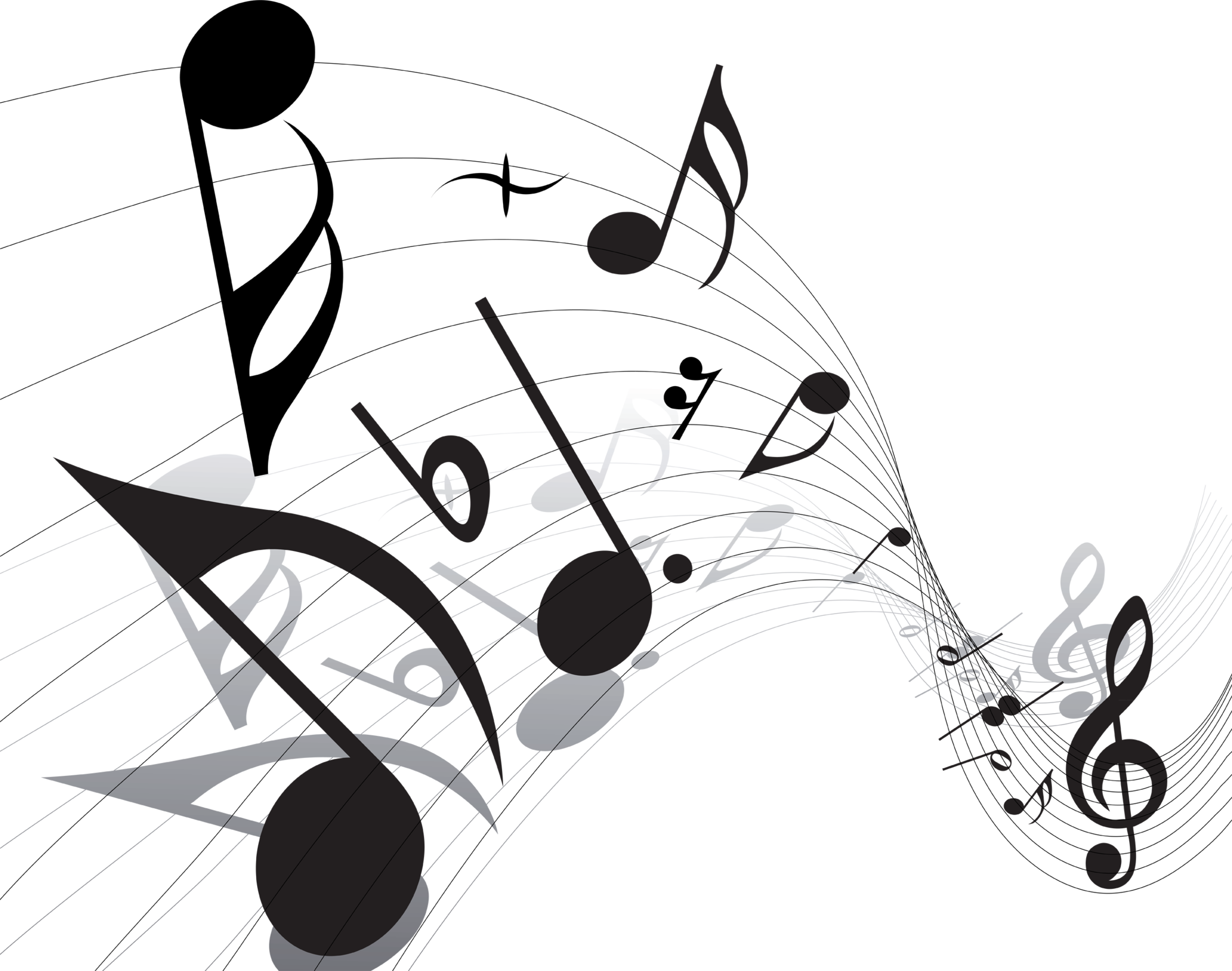 Music note design png. Notes