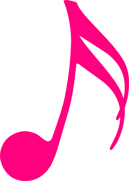 Music note doodle png. Pink clip art at