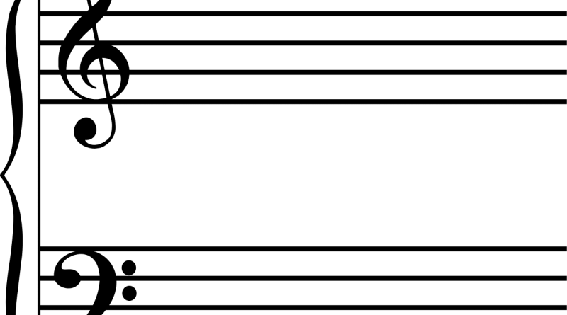 Music note lines png. Different octaves marked in