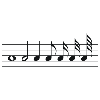 Music note png aesthetic. Musical notes large to
