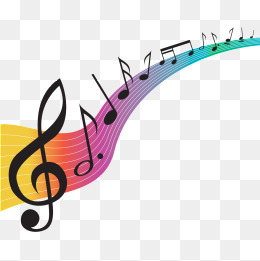 Music note png colorful. Color notes vectors psd