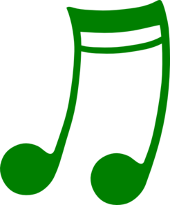 Music note png green. Clip art at clker