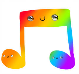 Music note png kawaii