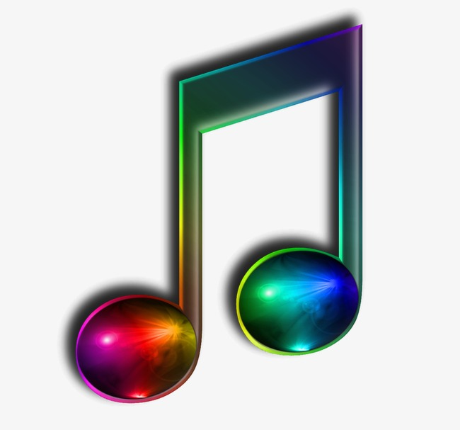 Music note png rainbow. Musical color single image