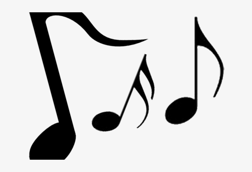 Music note png silhouette. Musical notes clipart entertainment
