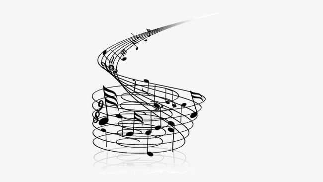 Music note png silhouette. Musical vector and for
